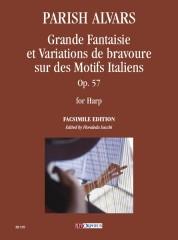Parish Alvars, Elias : Grande Fantaisie et Variations de bravoure sur des Motifs Italiens Op. 57 for Harp