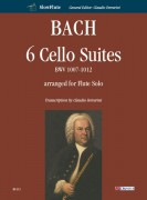 Bach, Johann Sebastian : 6 Cello Suites BWV 1007-1012 arranged for Flute Solo