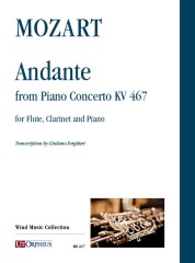 Mozart, Wolfgang Amadeus : Andante from Piano Concerto KV 467 for Flute, Clarinet and Piano