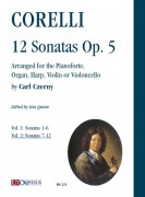 Corelli, Arcangelo : 12 Sonatas Op. 5 arranged for the Pianoforte, Organ, Harp, Violin or Violoncello by Carl Czerny - Vol. 2: Sonatas 7-12 [Score]