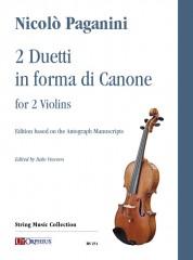 Paganini, Niccolò : 2 Duetti in forma di Canone for 2 Violins