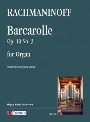 Rachmaninoff, Sergei : Barcarolle Op. 10 No. 3 for Organ
