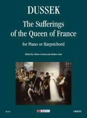 Dussek, Jan Ladislav : The Sufferings of the Queen of France for Piano or Harpsichord