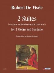 """Visée, Robert De : 2 Suites from """"Pieces de Théorbe et de Luth"""" (Paris 1716) for 2 Violins and Continuo"""