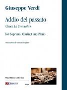 """Verdi, Giuseppe : Addio del passato (from """"La Traviata"""") for Soprano, Clarinet and Piano"""