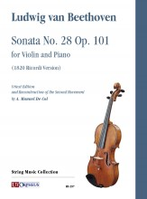 Beethoven, Ludwig van : Sonata No. 28 Op. 101 for Violin and Piano