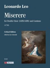 Leo, Leonardo : Miserere (1739) for Double Choir (SATB-SATB) and Continuo