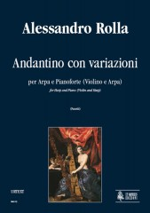 Rolla, Alessandro : Andantino with Variations for Harp and Piano (Violin and Harp)
