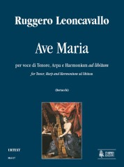Leoncavallo, Ruggero : Ave Maria for Tenor, Harp and Harmonium ad libitum