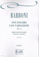 Rabboni, Giuseppe : Pot-pourri with Variations Op. 14 for Flute and Harp