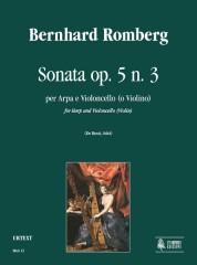 Romberg, Bernhard : Sonata Op. 5 No. 3 for Harp and Violoncello (Violin)