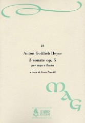 Heyse, Anton Gottlieb : 3 Sonatas Op. 5 for Harp and Flute