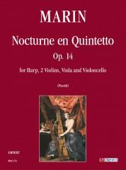 Marin, Marie-Martin : Nocturne en Quintetto Op. 14 for Harp, 2 Violins, Viola and Violoncello [Score]