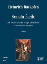Backofen, Heinrich : Sonata Facile for Violin (Flute) and Harp (Piano)