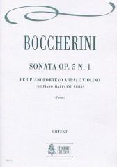 Boccherini, Luigi : Sonata Op. 5 No. 1 for Piano (Harp) and Violin
