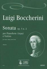 Boccherini, Luigi : Sonata Op. 5 No. 2 for Piano (Harp) and Violin