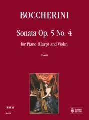 Boccherini, Luigi : Sonata Op. 5 No. 4 for Piano (Harp) and Violin