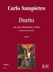 Sampietro, Carlo : Duet (Milano 1827) for Harp (Piano) and Viola
