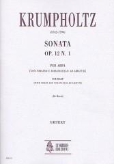 Krumpholtz, Johann Baptist : Sonata Op. 12 No. 1 for Harp (with Violin and Violoncello ad libitum)