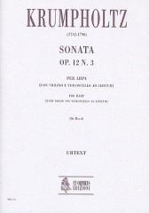 Krumpholtz, Johann Baptist : Sonata Op. 12 No. 3 for Harp (with Violin and Violoncello ad libitum)