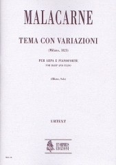 Malacarne, Domenico : Theme and Variations (Milano 1823) for Harp and Piano