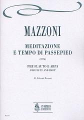Mazzoni, Nino : Meditazione e Tempo di Passepied for Flute and Harp (1976)