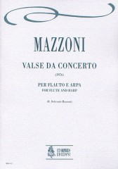 Mazzoni, Nino : Valse da concerto for Flute and Harp (1976)