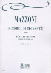 Mazzoni, Nino : Ricordi di gioventù for Flute and Harp (1980)