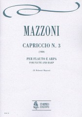 Mazzoni, Nino : Capriccio No. 3 for Flute and Harp (1980)