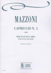 Mazzoni, Nino : Capriccio No. 3 for Flute and Harp (1980)
