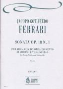 Ferrari, Jacopo Gotifredo : Sonata Op. 18 No. 1 for Arpa, Violin and Violoncello