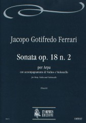 Ferrari, Jacopo Gotifredo : Sonata Op. 18 No. 2 for Arpa, Violin and Violoncello