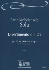 Sola, Carlo Michelangelo : Divertimento Op. 24 for Flute (Violin) and Harp