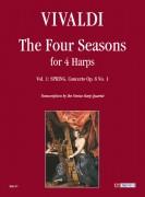 Vivaldi, Antonio : The Four Seasons for 4 Harps - Vol. 1: Spring - Concerto Op. 8 No. 1