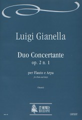 Gianella, Luigi : Duo Concertante Op. 2 No. 1 for Flute and Harp