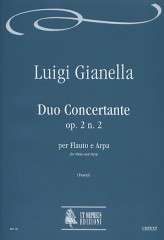 Gianella, Luigi : Duo Concertante Op. 2 No. 2 for Flute and Harp