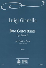 Gianella, Luigi : Duo Concertante Op. 24 No. 1 for Flute and Harp