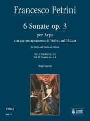 Petrini, Francesco : 6 Sonatas Op. 3 for Harp with Violin ad libitum - Vol. 1: Sonatas Nos. 1-3