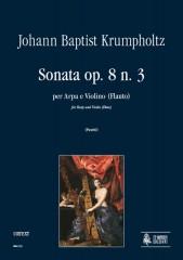 Krumpholtz, Johann Baptist : Sonata Op. 8 No. 3 for Harp and Violin (Flute)