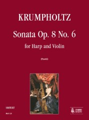Krumpholtz, Johann Baptist : Sonata Op. 8 No. 6 for Harp and Violin