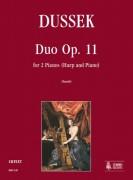 Dussek, Jan Ladislav : Duo Op. 11 for 2 Pianos (Harp and Piano)