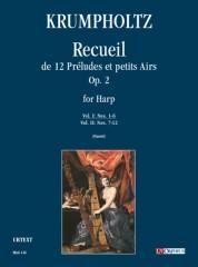 Krumpholtz, Johann Baptist : Recueil de 12 Préludes et petits Airs Op. 2 for Harp - Vol. I: Nos. 1-6