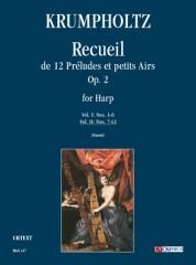 Krumpholtz, Johann Baptist : Recueil de 12 Préludes et petits Airs Op. 2 for Harp - Vol. II: Nos. 7-12