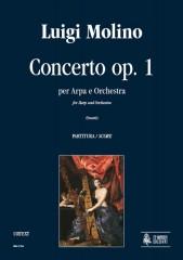 Molino, Luigi : Concerto Op. 1 for Harp and Orchestra [Score]