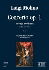 Molino, Luigi : Concerto Op. 1 for Harp and Orchestra [Piano Reduction]