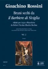 """Rossini, Gioachino : Selected Pieces from """"Il Barbiere di Siviglia"""" transcribed for Harp and Piano by Robert Nicolas Charles Bochsa - Vol. 2"""