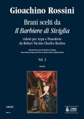 """Rossini, Gioachino : Selected Pieces from """"Il Barbiere di Siviglia"""" transcribed for Harp and Piano by Robert Nicolas Charles Bochsa - Vol. 3"""
