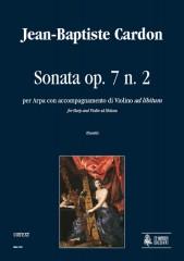 Cardon, Jean-Baptiste : Sonata Op. 7 No. 2 for Harp and Violin accompaniment ad libitum