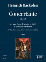 Backofen, Heinrich : Concertante Op. 7/8 for Harp, Basset-horn (or Viola) and Violoncello ad libitum