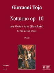 Toja, Giovanni : Nocturne Op. 10 for Flute and Harp (Piano)